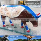 My Dino-C045 Animatronic life-size fiberglass cow statue for sale