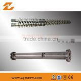 twin conical screw barrel conical twin screw and barrel PVC extrusion screw barrel plastic machinery components
