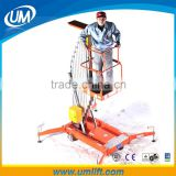 6-12M Electric Single Mast Aluminum Aerial Hydraulic Lift Work Platform Elevator With Loading 125-150 kg