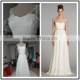 White Sweetheart Neckline Custom Made Floor Length Formal Bridal Dress Vestidos De Novia BW066 casual beach wedding dresses