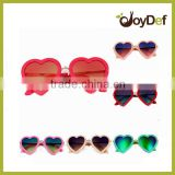 Promotional Cheap Novelty Loving Heart Shape Party Sunglasses Custom Logo Printed Heart Sunglasses