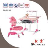 AP Home use height adjustable desk kids study table chair