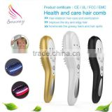 Hot selling High quality head lice comb Electric hair growth comb with massage led color light treatment