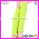 C573 Women Winter Warm Crochet Knit Knee Leg Warmers Leggings Boot Socks Knit Knee Warmer
