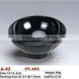 A-43 round black plastic washing bowl