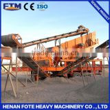 Heat resistant conveyor belt for chrome ore concentrating plant