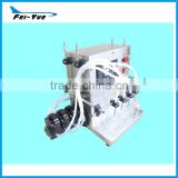 Stainles steel small electric 4 nozzles Peristaltic pump acid liquid filling machine organic filler