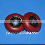 customized 8*29.6*8 mm plastic coated u groove bearing