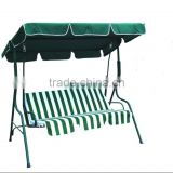 264003 cheap outdoor garden patio steel fabric 3 seater swings chairs