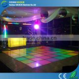 Interactive led dance floor for acrylic dance stages with flight case