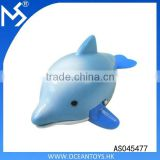 Summer bath water toy swimming plastic wind up dolphins