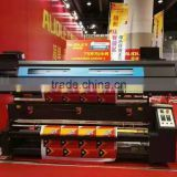 direct to polyester fabric industrial DYE SUBLIMATION textile inkjet printing plotter QS8000-3
