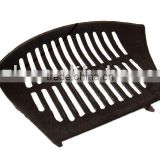 matt black cast iron trench drain grates