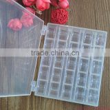 Clear Plastic 25pcs Single Bobbin Sewing Machine Spools With Thread Storage Box For Home Sewing