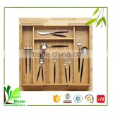 New arrival bamboo flatware storage tray