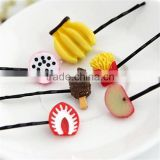 hot sale Korea style Super cute girl's headwear mini bobby pin fruit watermelon lemon shaped hair clip