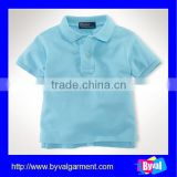 children chinese clothing of polo shirt wholesale blank plain kids polo shirt clothing factories in china