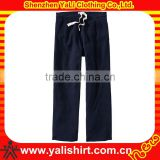 Custom new comfortable high quality black casual cotton mens sports track pants 2013