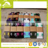 Christmas socks Wholesale Marijuana Weed Leaf Colored Man Women Cotton Long Sports Socks in stock