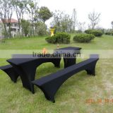 Spandex lycra beer table cover Stretch Biertischusse lycra stretch beer bench cover stretch beer garden sets