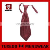 100% Silk Red Color Wholesale Price Ascot