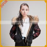 Attractive Design Wholesale Camel Ladies Bomber Jacket Contrast Color Embrodiered Velvet Jackets