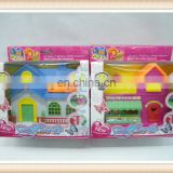 Hot sell kids plastic toy villa