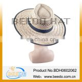 New products 2014 Summer Straw Hat,Round Top Straw Hat,Men Straw Boater Hat