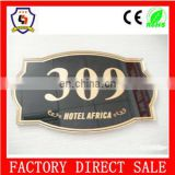 new design bulk cheap door number plates wholesale hotel room house number plate 309 /blank number plate/HH-serial number-55