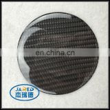 Round Shape Design Real Carbon Fiber Epoxy Sticker Car Emblem Badge
