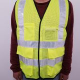 Custom Reflective Safety Vest With PVC Pocket