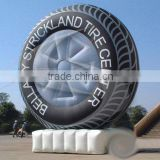 Inflatable pvc car tire/wheel balloon with blower on company event advertising