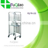 Stainless Steel Bread Display Rack Trolley with Wheels                                                                         Quality Choice