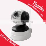 Plug and Play 720P P/T wifi IP camera, smart home security system wireless IP camera baby monitor with P2P and SD card