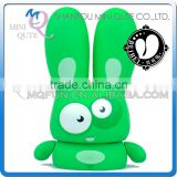 Mini Qute Mask Bear 10cm Green Shy Beibei Rabbit Kawaii plastic animal action figures Cartoon toy car Decoration doll model