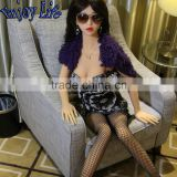 JYD07A 168cm European Lady Lifelike Silicone Solid Sex Dolls With Skeleton Vagina/Anal/Oral Sex Toys Pussy Pump