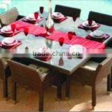 High quality best selling Set of Brown polyrattan coffee and Dining Chair & Table from Vietnam