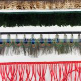 indian peacock tail feather boa
