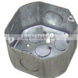 "4""x4""x2-1/8"" Octagon Steel Box(Steel switch box,metal outlet box)"