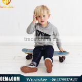 Spring & Autumn New Arrival Fashion Boy Clothing Sets Children Long Sleeve T-shirt + Denim Jeans Two Piece Sets