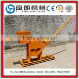 Manual Simple compressed hand power earth blocks machinery FL1-40