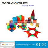 Magnet building tiles 60 piece set Clear 3D color for kids                                                                         Quality Choice