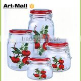 online shopping new premium square glass jars clip top china supplier