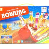 new design transparent electric bowling games with 3D light, bowling toys for Wholesale, sport toys for children, EB033875