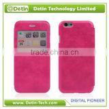 Thermal Fuse Slim PU leather mobile cover with time display Window- Make it for any phone models