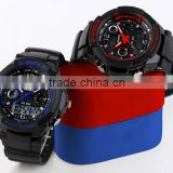 Outdoor Sport Mens Stainless Steel Back Water Resistant Watches Digital LED Quartz Automatic Watch