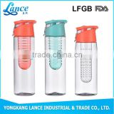 Best selling New products plastic water bottle with fruit infuser on Alibaba com