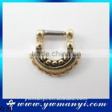 Pop axe shaped gold/silver-plated nose ring piercing/ non piercing O 31