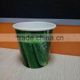 offset printing wholesale cheap biodegradable disposable 9cm flower paper cup for flower