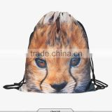 3d custom sublimation digital print ready stock mochila drawstring bag unisex backpacks animal for ladies fashion